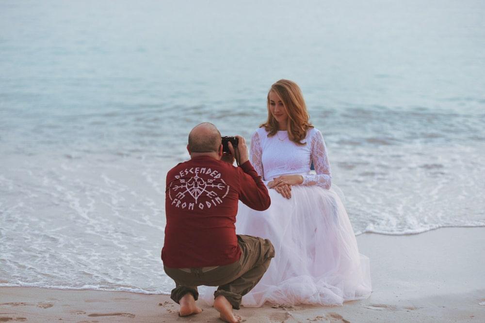 Fotografo matrimonio sposa Cannes mare Francia